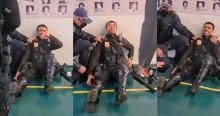 Surgem imagens de policial agonizando após ser atingido por flecha de indígena (veja o vídeo)