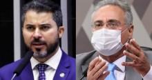 """Renan """"surta"""" depois que Marcos Rogério cita respiradores """"surrupiados"""" em Alagoas (veja o vídeo)"""