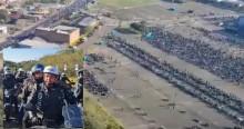 Sensacional: Imagens aéreas de concentração em motociata de Porto Alegre, revelam multidão (veja o vídeo)