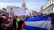 Sangue e lágrimas nas ruas de Cuba