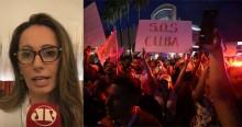 """Ana Paula Henkel sobre omissão da esquerda a respeito de Cuba: """"Fascismo cenográfico"""""""