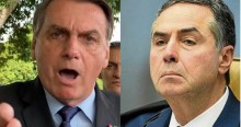 """Bolsonaro se revolta e parte pra cima de Barroso: """"Tá na cara que querem fraudar as eleições"""" (veja o vídeo)"""