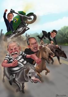 Charge da Semana - Bolsonaro: O rei do asfalto
