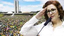 """""""Queremos uma nova independência, um Brasil com liberdade de voto e transparência"""", afirma Carla Zambelli (veja o vídeo)"""