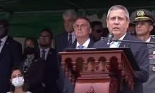 """Em frente a tropa, General Braga Netto faz discurso forte: """"Forças Armadas estão sob autoridade suprema do presidente"""" (veja o vídeo)"""