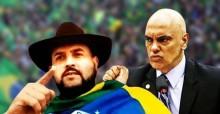 Ousado, Zé Trovão permanece solto e faz novo vídeo dirigido ao ministro Alexandre de Moraes (veja o vídeo)