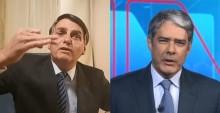 "Bonner sente o golpe, ""surta"" ao vivo e faz o maior ataque da Globo a Bolsonaro (veja o vídeo)"