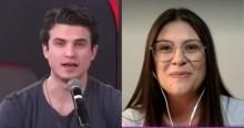 """Ao vivo, Bárbara, do """"Te Atualizei"""", dá lição em André Marinho (veja o vídeo)"""