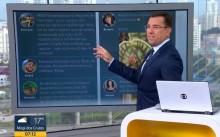 Ao vivo, apresentador da Globo novamente se irrita com crítica de internauta