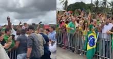 """AO VIVO: Bolsonaro chega na Bahia do petista Rui Costa e é aclamado por multidão aos gritos de """"mito"""" (veja o vídeo)"""