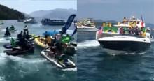 AO VIVO: Centenas de embarcações pintam o mar de Angra dos Reis de verde e amarelo (veja o vídeo)