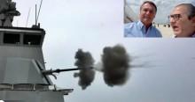 Marinha faz exercício real no mar, com a presença de Bolsonaro (veja o vídeo)