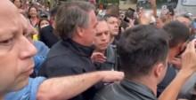 Ao vivo, Bolsonaro sai em passeio de moto pelo Guarujá e é ovacionado pelo povo (veja o vídeo)