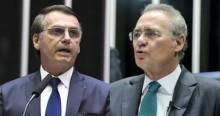"""""""Um bandido... Bandido é elogio para ele"""", dispara Bolsonaro sobre Renan (veja o vídeo)"""