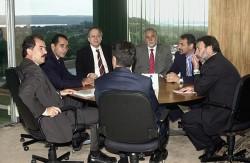 O então ministro em reunião no Planalto