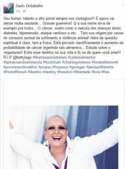 A postagem que revoltou seguidores da atriz