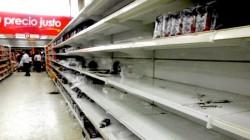 Situação de um supermercado na Venezuela