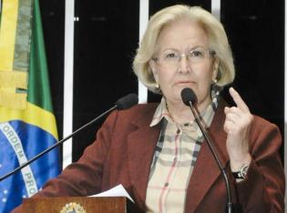 Em duelo de gaúchos, senadora Ana Amélia (PP) põe Paulo Paim (PT) para correr (veja o vídeo)