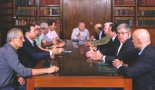 A indecente mesa dos homens que  discutem a Reforma Previdenciária...