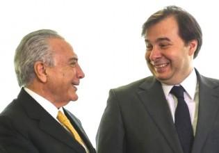 Maia protege Temer e não dá andamento aos 25 pedidos de impeachment contra o presidente