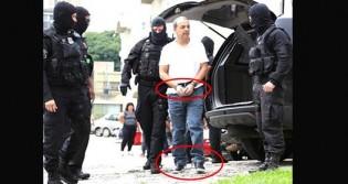 Moro vence duelo com Gilmar e Cabral, algemado e acorrentado, chega a Curitiba