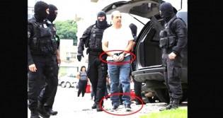 Com mãos e pés algemados, Cabral é usado para que povo aceite a lei da anistia aos corruptos