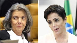 Carmen Lúcia encerra festa de Cris e posse está suspensa