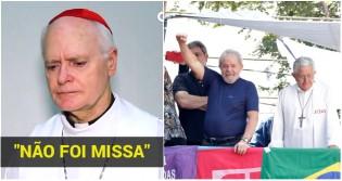 """""""Aquilo não foi Missa"""": Cardeal Dom Odilo Scherer reprova ato religioso no sindicato"""