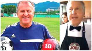 """Zico paga aposta e trabalha de garçom por um dia – """"O dia em que Lula fosse preso"""" (Veja o Vídeo)"""