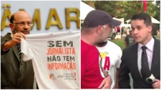 Petista, presidente do Sindicato dos Jornalistas, comanda obstrução ao trabalho da Imprensa (Veja o Vídeo)
