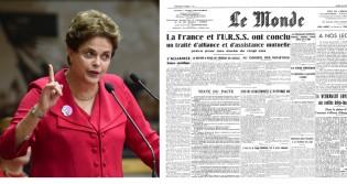 """EM PRIMEIRA MÃO, O ARTIGO DA DILMA PRO """"LE MONDE"""" DE AMANHÃ"""