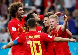 A goleada da Bélgica...
