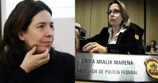 A má fé e a pura maldade de Mônica Bergamo, da Folha, com a delegada Erika Marena