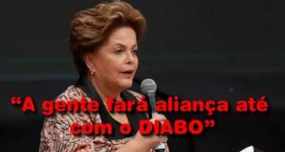 Derrotada e sem moral, Dilma promete aliança até com o diabo para retomar o poder (Veja o Vídeo)