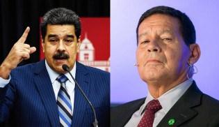 """Maduro chama Mourão de """"covarde"""" e """"cara de louco"""""""