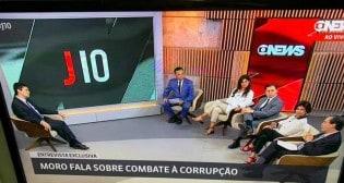 """O show de Moro, um verdadeiro """"olé"""" na turma do Jornal das Dez da Globo News (Veja o Vídeo)"""