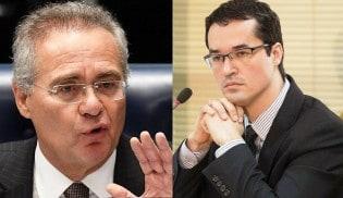 Na mais sórdida inversão de valores, Renan ameaça Deltan