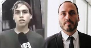 A primeira vez de Carlos Bolsonaro na Globo: 14 anos de idade, denunciando um crime (Veja o Vídeo)