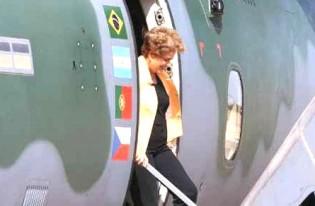 Dilma finalmente está de volta ao Brasil