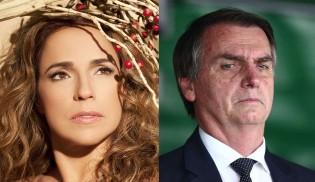 Carta aberta de Daniela Mercury a Bolsonaro escancara hipocrisia e falta de vergonha