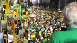 Ato de apoio a Lava Jato e impeachment de Gilmar tem um fato inesperado e termina com o hino nacional (Veja o Vídeo)