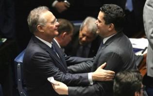 Alcolumbre e Renan selam a paz