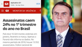 """Se o número de assassinatos tivesse aumentado, os """"especialistas"""" culpariam Bolsonaro"""