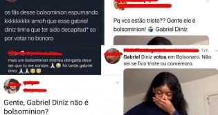 Inacreditável e triste: Perfis esquerdopatas comemoram morte de Gabriel Diniz apenas por ele ter apoiado Bolsonaro