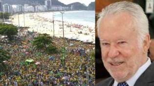 A coerente e lúcida análise de Alexandre Garcia sobre as manifestações de domingo (Veja o Vídeo)
