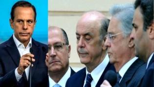 Em uma só frase, Dória humilha FHC, Serra, Alckmin e Aécio