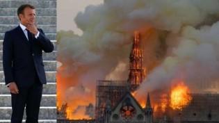 Macron é o homem que não conseguiu impedir o fogo na Notre Dame