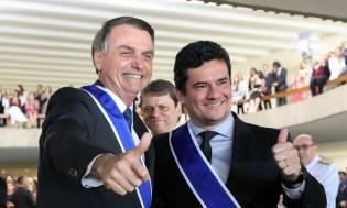 """""""O Moro pediu dez, nove estão garantidos, vou discutir o último"""", diz Bolsonaro sobre veto do projeto de abuso de autoridade"""