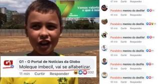 Nas redes sociais, as pessoas de bem dão a resposta à Rede Globo, após o ataque ao garoto Ivo