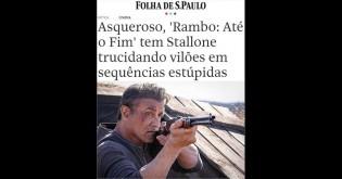 Folha problematiza filme de Rambo e vira chacota na internet